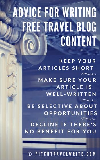 writing free content for blogs and websites has advantages and disadvantages