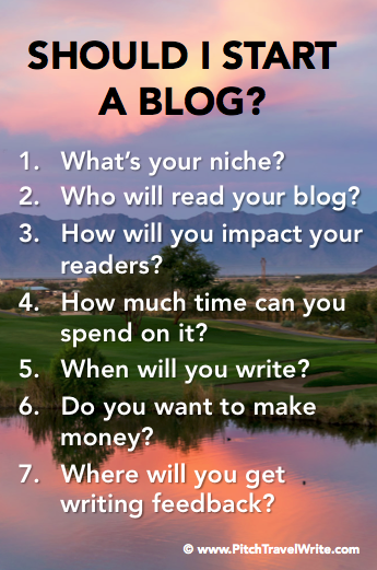 things to consider before starting a travel blog