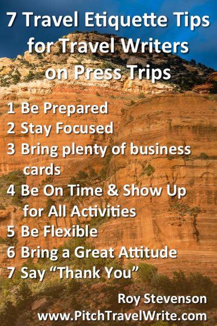 seven tips for good travel etiquette on press trips