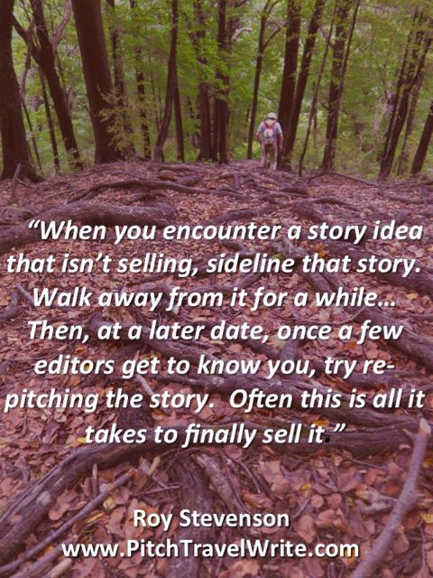walk away from a story that isn't selling