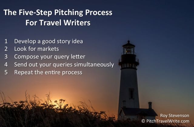 pitching travel stories is a process with five steps to follow
