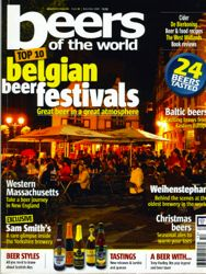 Beers of the World magazine where my article was published.