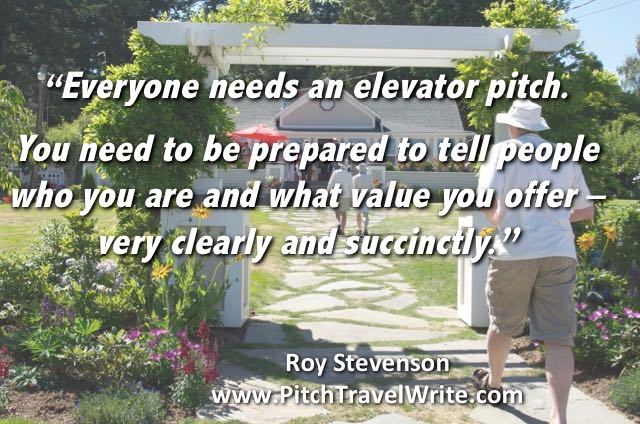 Part of marketing means you need to have an elevator speech ready.