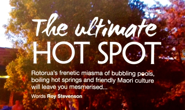 the lead sentence in article about Rotorua describes its ambiance