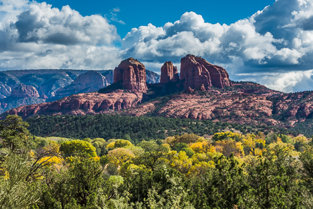 beautiful Sedona mountains as seen during a press trip
