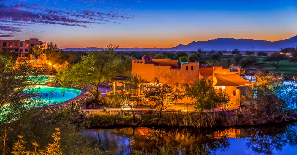 Luxury travel includes opportunities to stay at beautiful places like the Sheraton Wild Horse Pass Resort