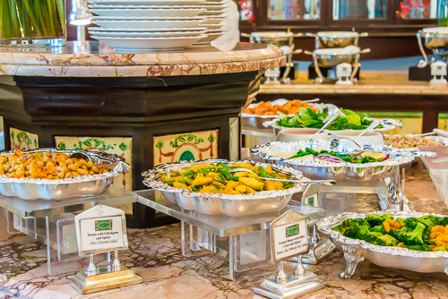 buffet at Raffles Hotel, Singapore