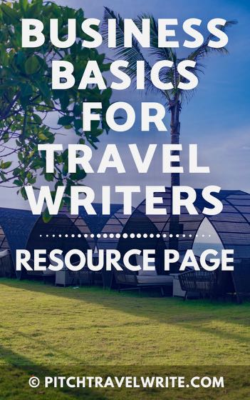 business basics for travel writers resource page