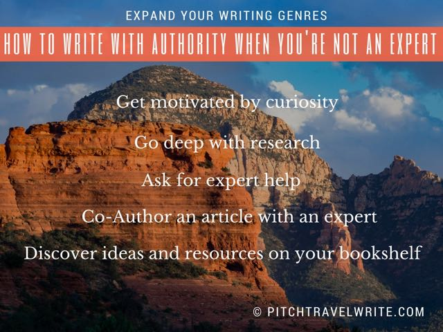 Expand your writing genres - how to write with authority when you're not an expert.