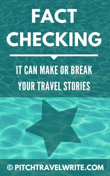 fact checking for travel writers