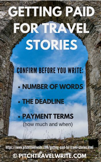 getting paid for travel stories involves confirming these 3 things with editors
