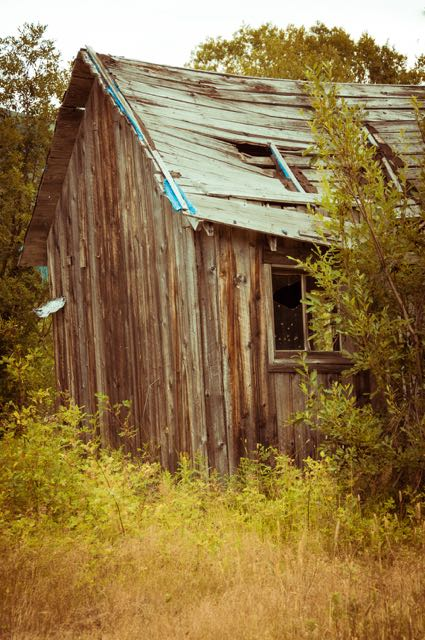 Old building remaining in a ghost town in Alaska.