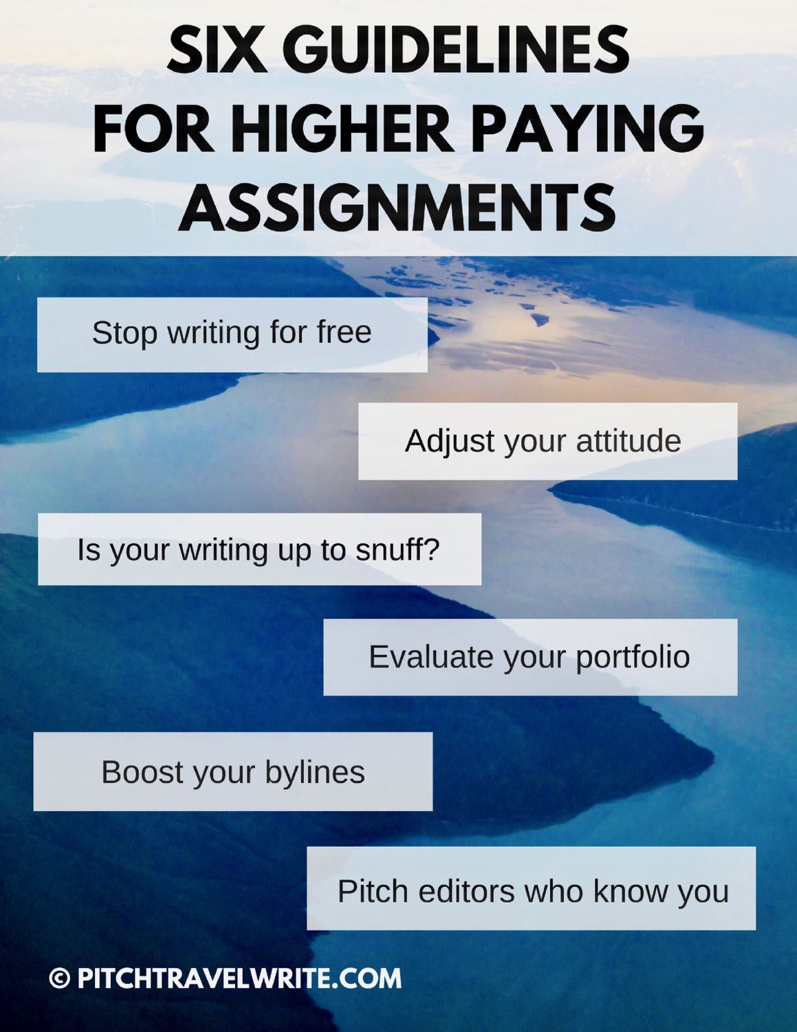 travel writers and higher paying assignments guidelines