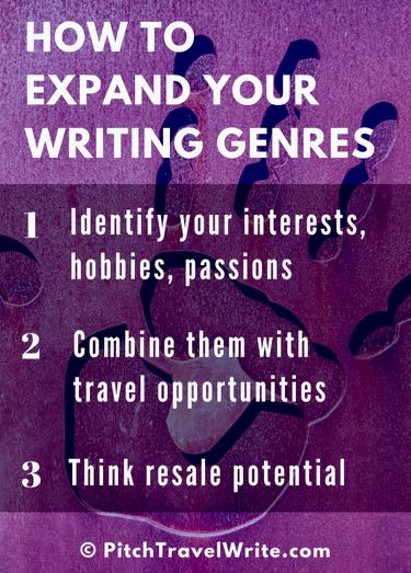how to expand your writing genres infographic