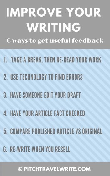 six ways to improve your writing and get useful feedback