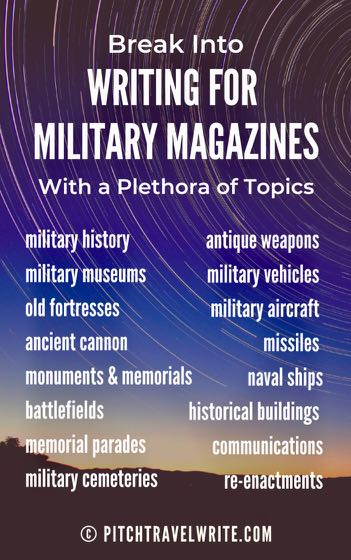 there are a plethora of topics for military magazines