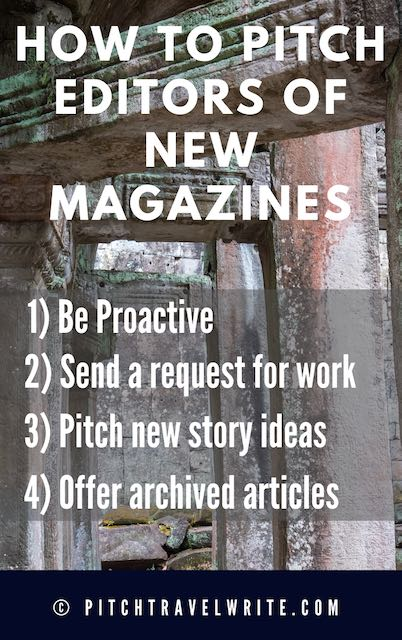 how to pitch the editor of a new magazine