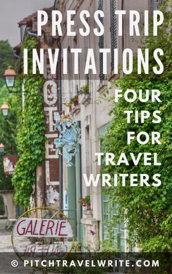 here are 4 tips for press trip invitations for travel writers