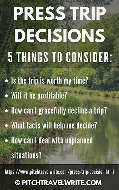 5 questions to ask when making press trip decisions