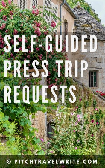 this is how to make a press trip request for a self-guided tour