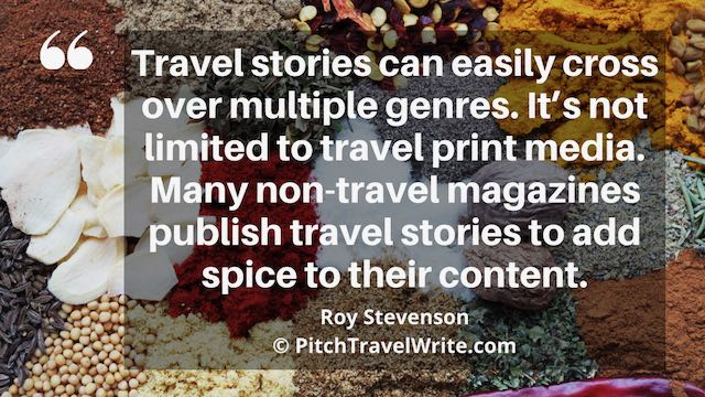 the print media industry publishes travel stories in many genres