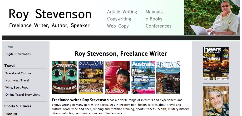 snapshot of my website roy-stevenson.com