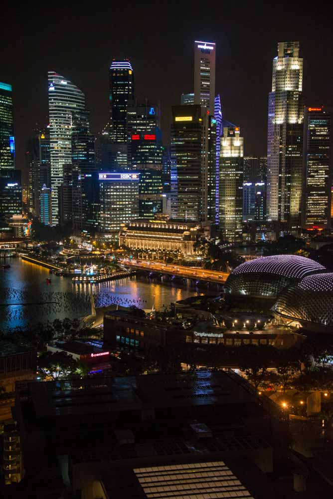 night photo of Singapore around 2016