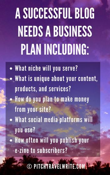 a successful blog needs a business plan