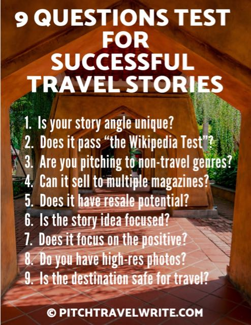 use these 9 questions to create successful travel stories that sell