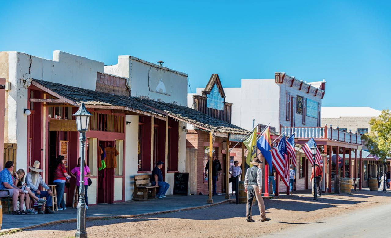 The recreated old west in Tombstone Arizona