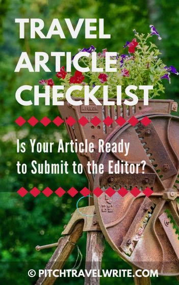 travel article checklist link