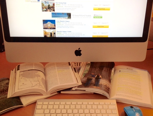 travel guidebooks and the internet are both useful for travel writers