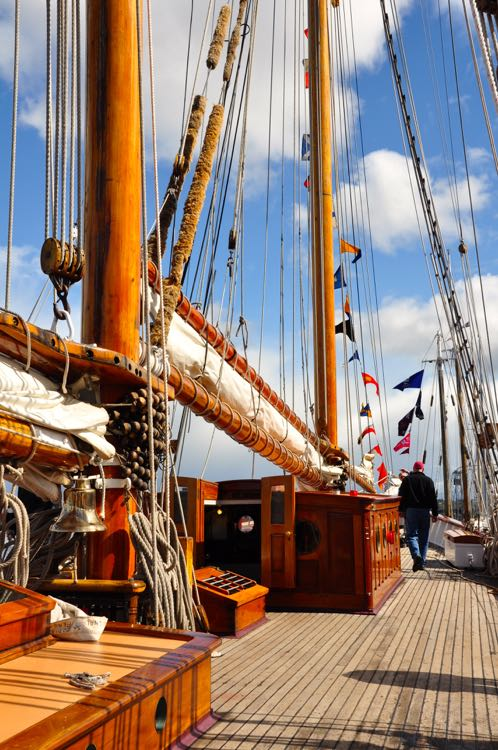 historic schooner deck