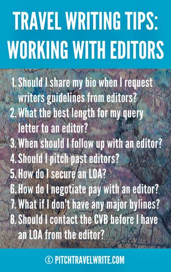 these travel writing tips are about working with editors successfully