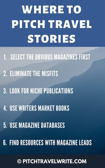 Here's where to find leads for where to pitch travel stories