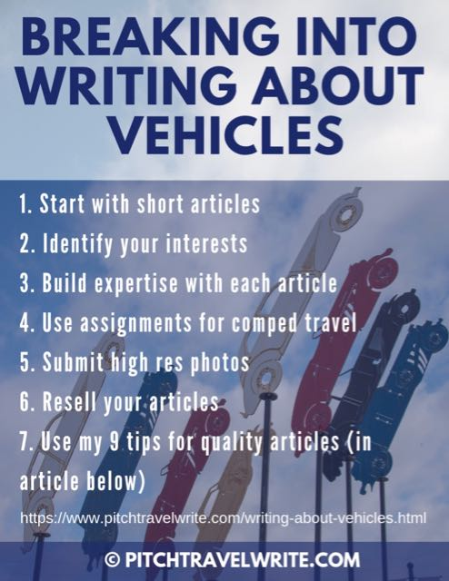 how to break into writing about vehicles - seven tips