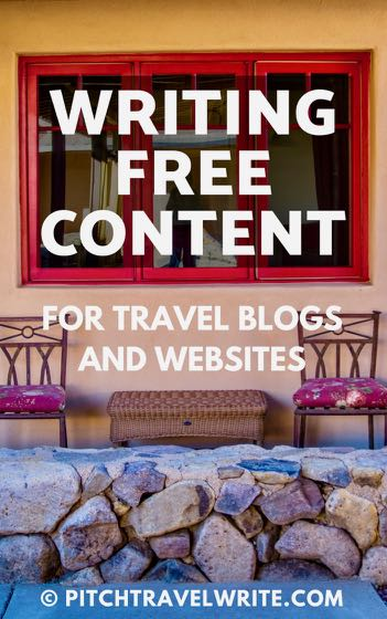 writing free content for travel blogs and websites
