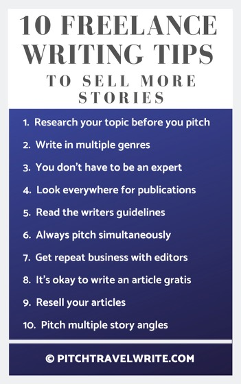 10 freelance writing tips to help you sell more stories