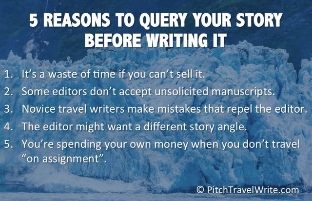 Your sales pitch should always be done first before writing your article