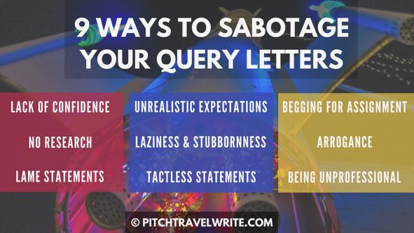 query letter advice so you don't sabotage your pitch