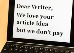 to write for free is a personal choice and should be used wisely