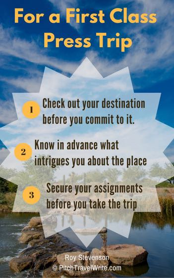 how you handle travel writing ethics affects your ability to have a first class press trip - here are 3 tips
