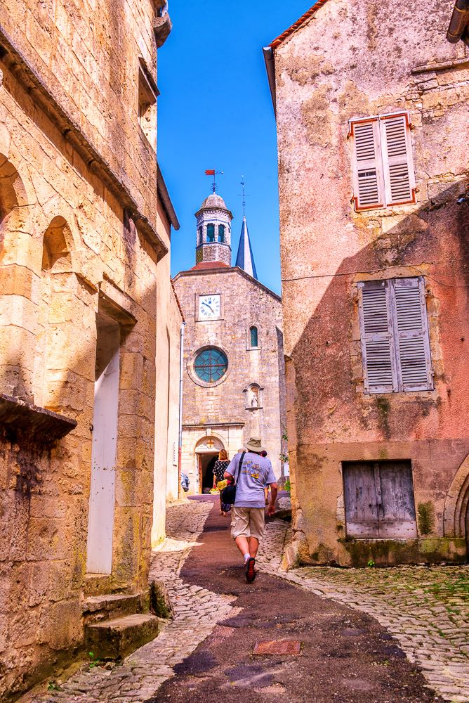 Exploring a small village in the Burgundy region of France.