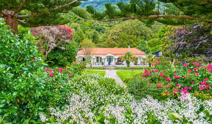 Furneaux Lodge in New Zealand is a beautiful setting with luxury cabins.