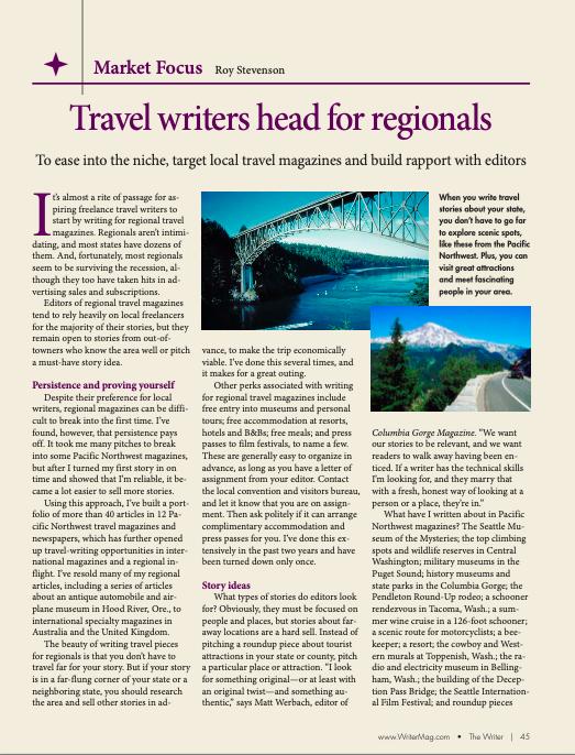writing for regional magazines