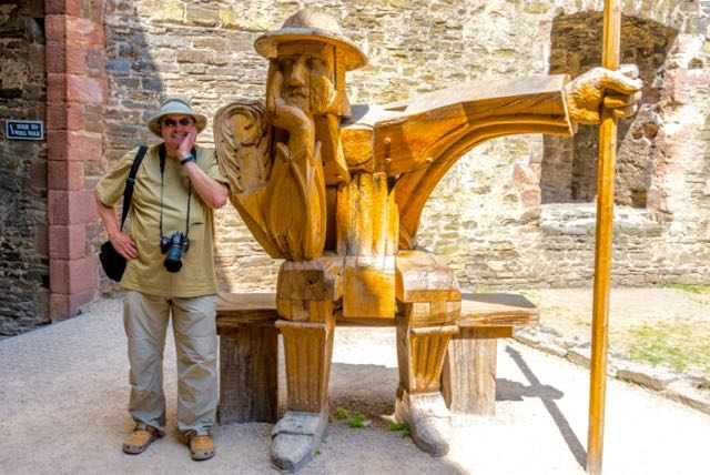 Roy Stevenson ponders his travel writing secret for success at Conwy Castle