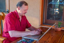 Roy Stevenson at work