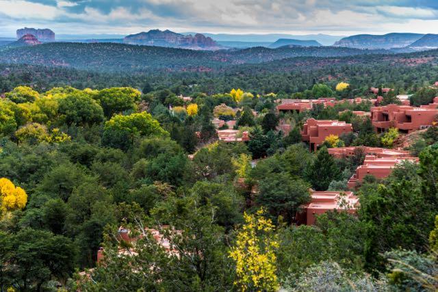 on a press trip to Sedona, Arizona - a view of Enchantment Resort