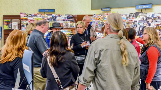 Travel Writing Master Class, Seattle, 2016 - field trip to local bookstore to search the magazine racks.