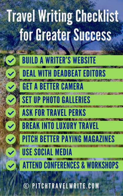 writing tips for greater success - for travel writers